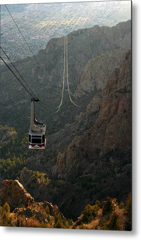 Albuquerque Metal Print featuring the photograph Sandia Peak Cable Car by Joe Kozlowski