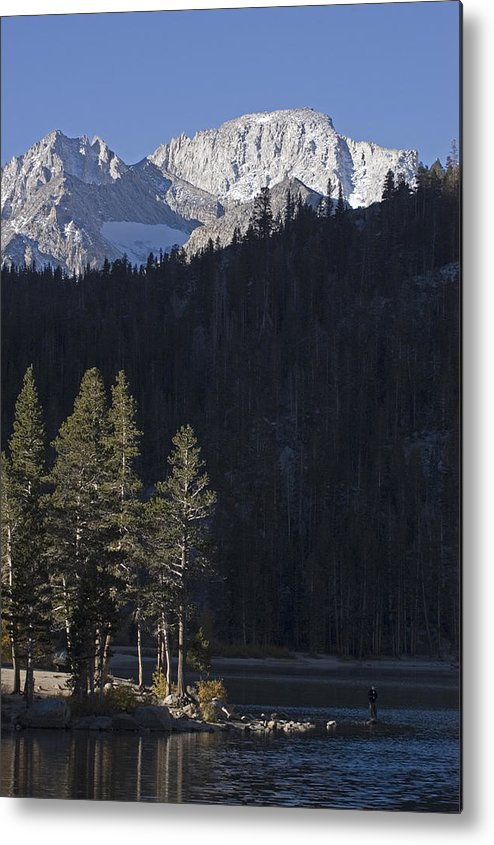 One Person Metal Print featuring the photograph Scenic View Of Mount Abbot 13701 Ft by Rich Reid