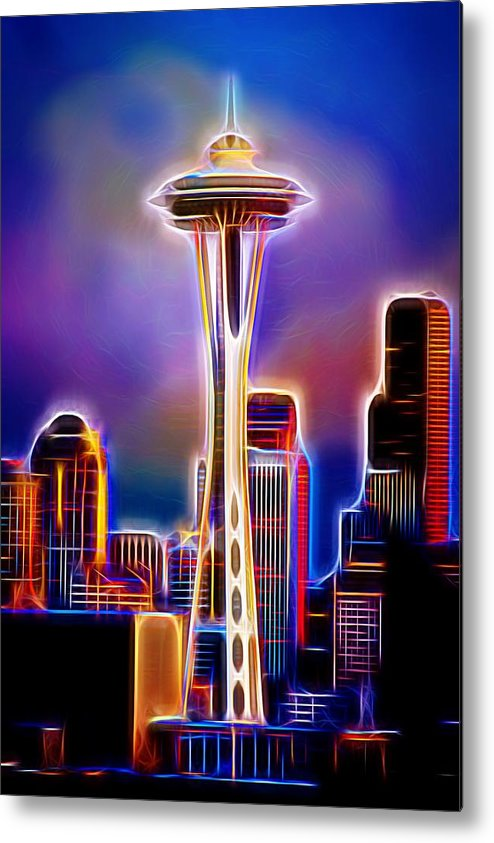 Seattle Space Needle Metal Print featuring the photograph Seattle Space Needle 1 by Aaron Berg
