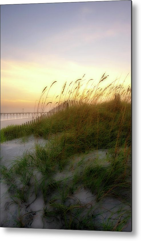 Beach Metal Print featuring the photograph Setting Sun 1 by Alan Hausenflock