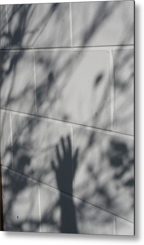 Black And White Photography Metal Print featuring the photograph Shadow Hand by Susana Maria Rosende