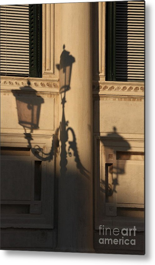 Venice Metal Print featuring the photograph Shadow Of A Lamp Post In Venice by Michael Henderson