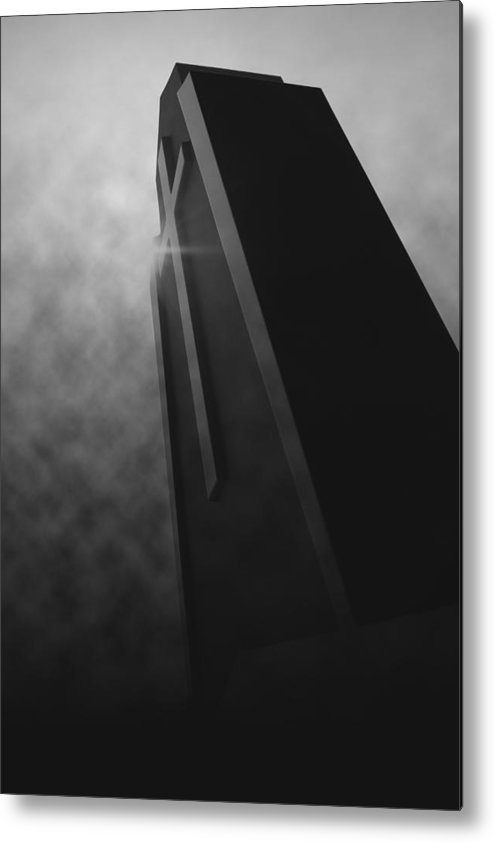 Black Metal Print featuring the photograph 'shining Intrigue I' by Adam M Dee