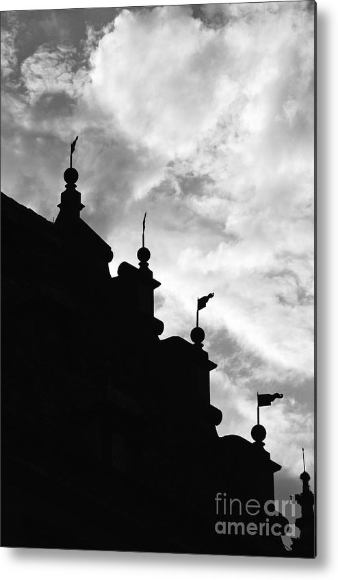 Silhouette Metal Print featuring the photograph Silhouette Of The Roof In Rothenburg Germany by Hideaki Sakurai