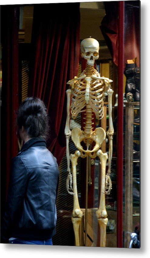 Jez C Self Metal Print featuring the photograph Skeleton Staff by Jez C Self