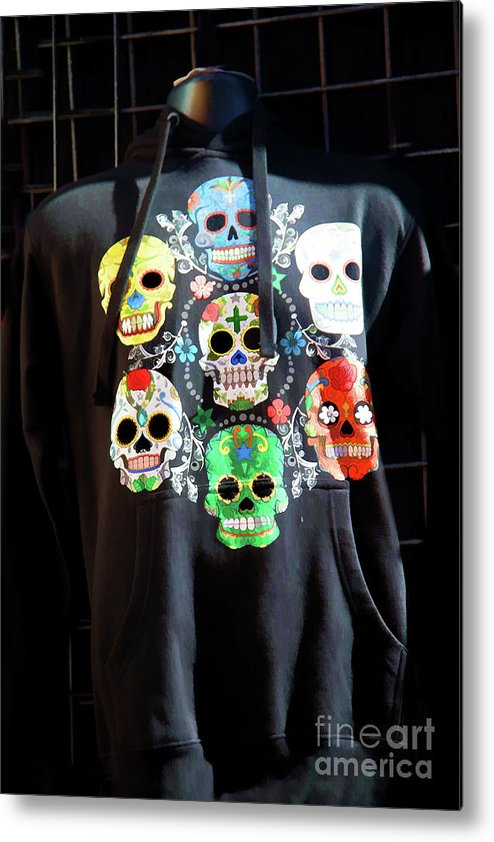 Dia De Los Muertos Metal Print featuring the photograph Skull T Shirts Day Of The Dead by Chuck Kuhn