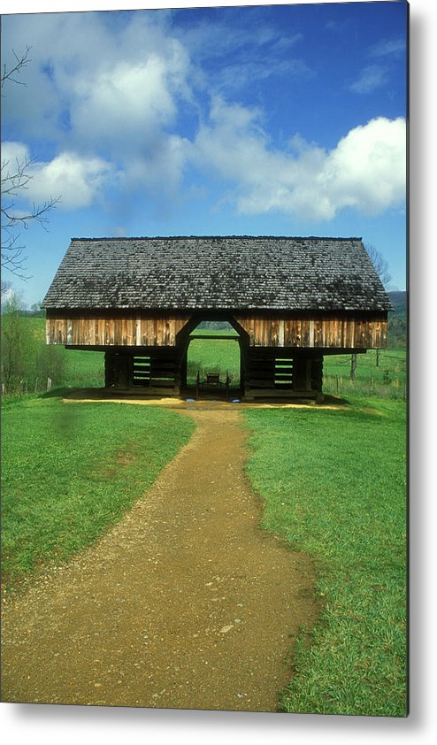 National Park Metal Print featuring the photograph Smoky Mountains Cantilever Barn by John Burk