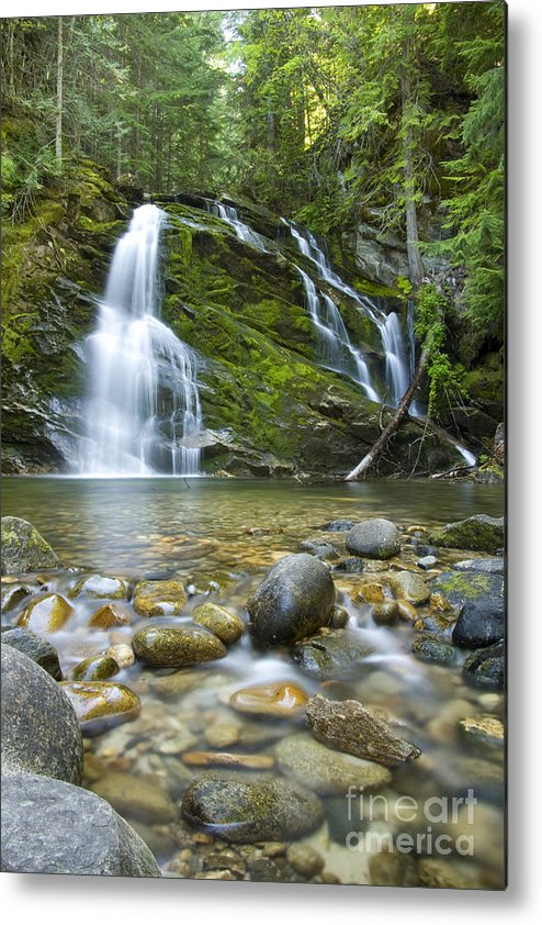 Waterfall Metal Print featuring the photograph Snow Creek Falls by Idaho Scenic Images Linda Lantzy