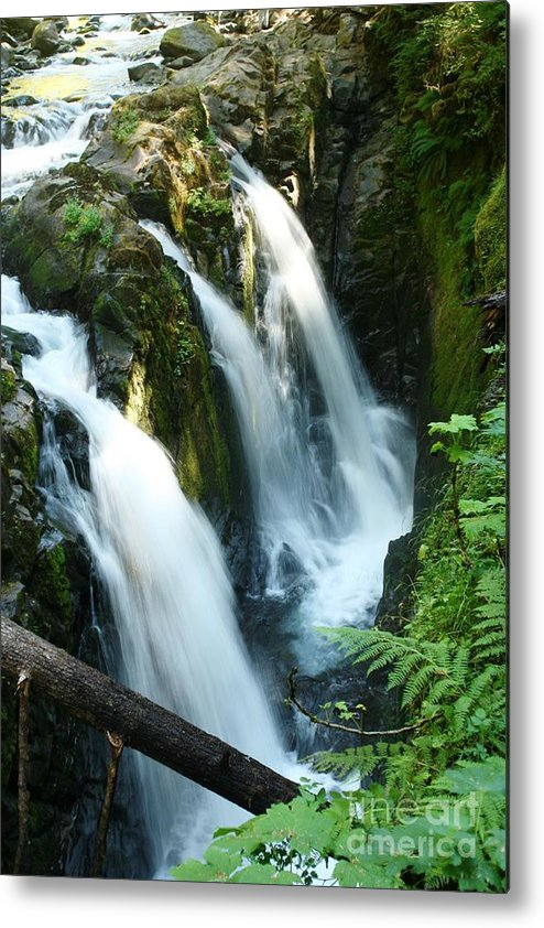 Waterfall Metal Print featuring the photograph Sol Duc Falls by Idaho Scenic Images Linda Lantzy