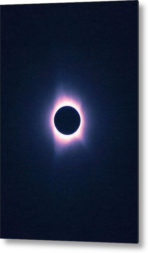 Sun Metal Print featuring the painting Solar Eclipse, Saros Cycle Painting by Celestial Images