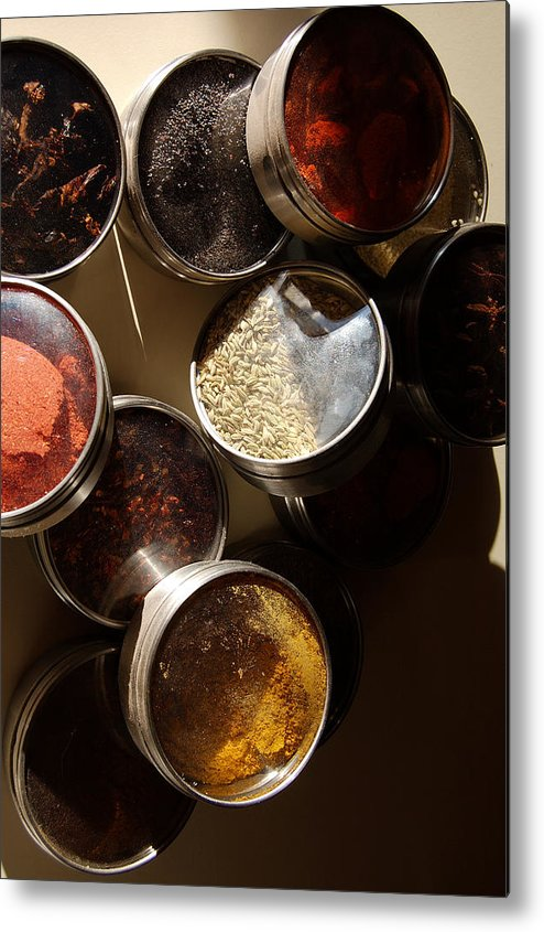 Photography Metal Print featuring the photograph Spices by Heather S Huston