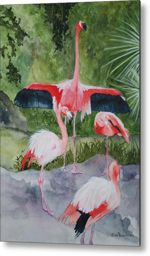 Wings Metal Print featuring the painting Spreading My Wings by Jean Blackmer