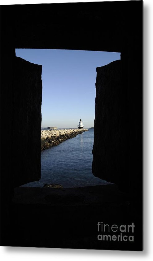 Maine Metal Print featuring the photograph Spring Point Ledge Light - Portland Mane Usa by Erin Paul Donovan