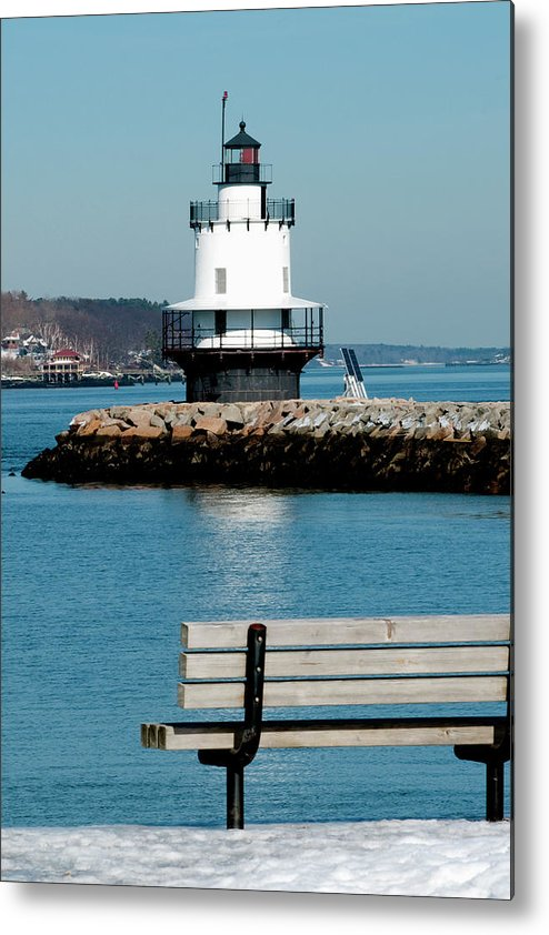 Coast Metal Print featuring the photograph Spring Point Ledge Lighthouse by Greg Fortier
