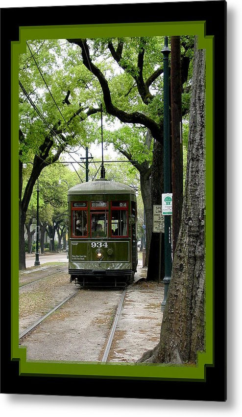 New Orleans Metal Print featuring the photograph St. Charles Street Car by Linda Kish