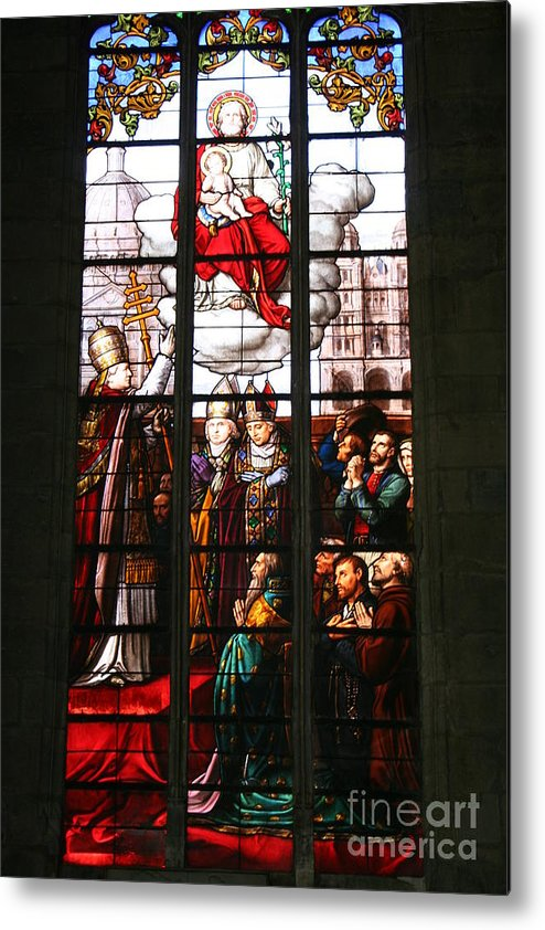 Window Metal Print featuring the photograph Stained Glass Window Vi by Christiane Schulze Art And Photography