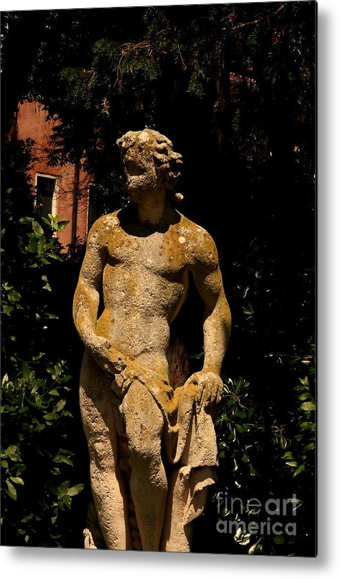Venice Metal Print featuring the photograph Statue In The Garden In Venice by Michael Henderson