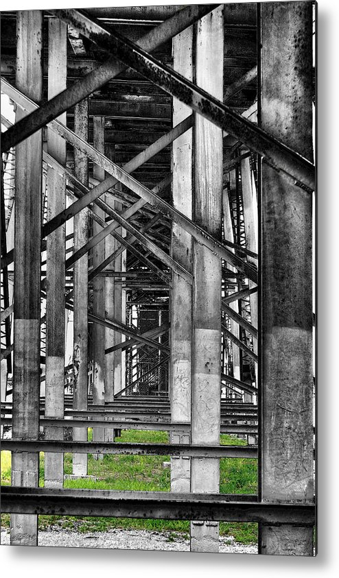 Steel Metal Print featuring the photograph Steel Support by Rudy Umans