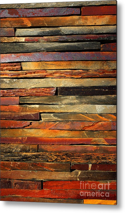 Abstract Metal Print featuring the photograph Stone Blades by Carlos Caetano