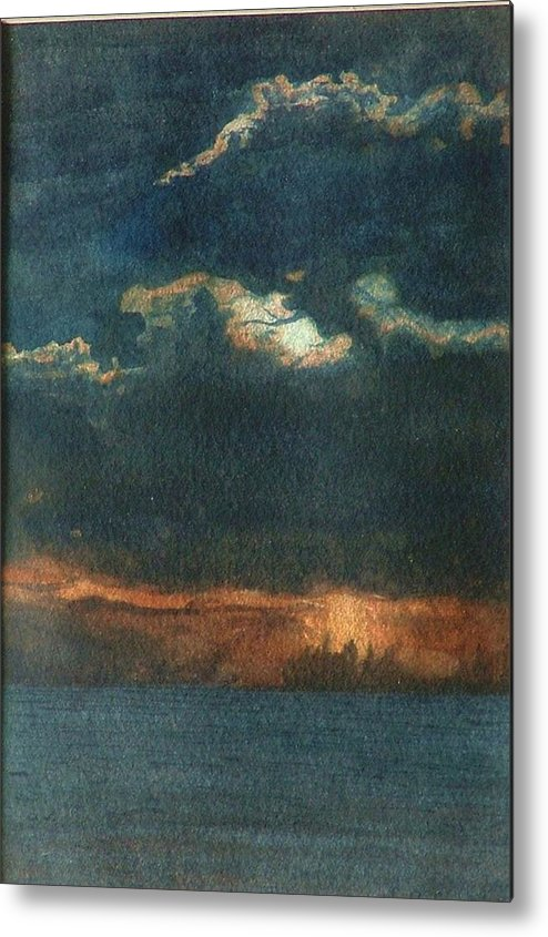 Landscape Metal Print featuring the painting Storm Brewing by Lynn ACourt