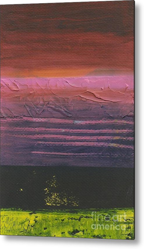 Abstract Metal Print featuring the painting Storm by David Weigham