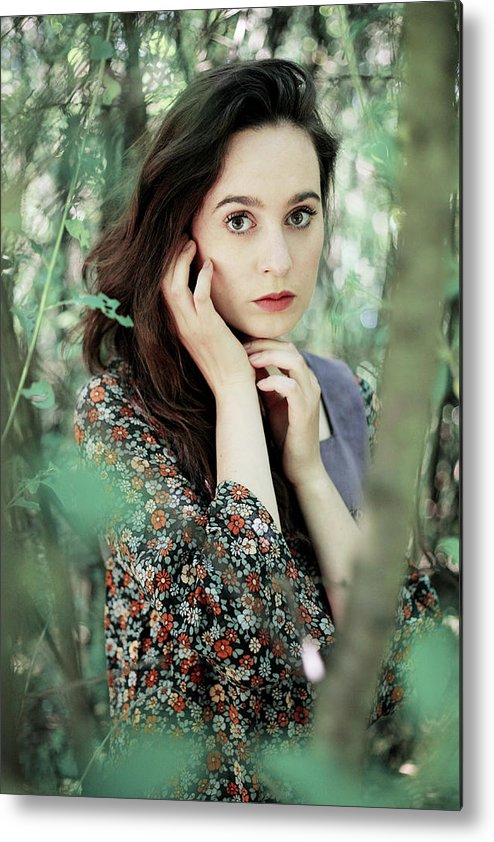 Woman Metal Print featuring the photograph Summer Forest by Cambion Art