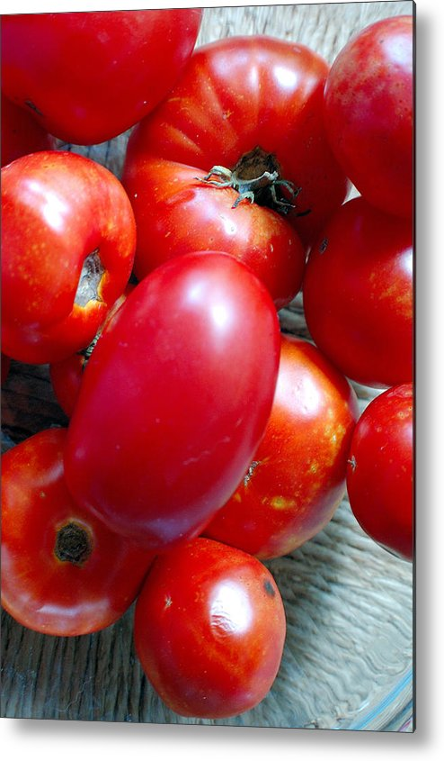 Photography Metal Print featuring the photograph Summer Tomatoes by Heather S Huston