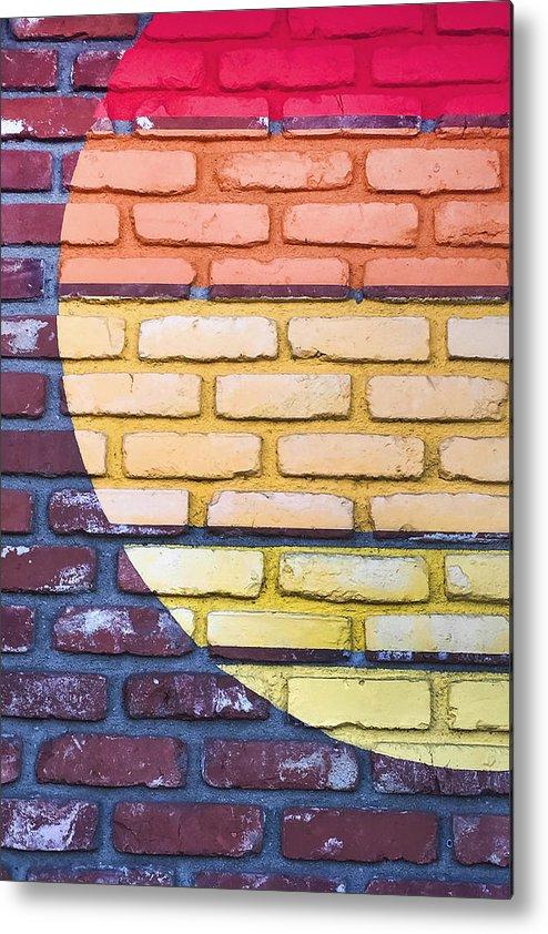 Manhattan Beach Metal Print featuring the photograph Sun On Bricks by Art Block Collections