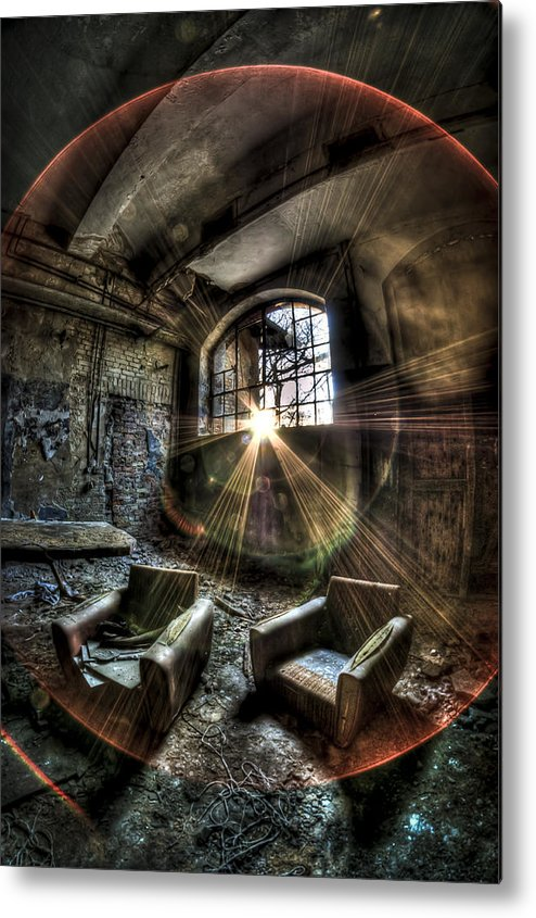 Room Metal Print featuring the photograph Sunburst Sofas by Nathan Wright
