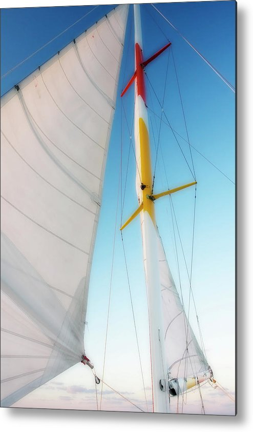 Beaufort North Carolina Metal Print featuring the photograph Sunset Sails 1 by Alan Hausenflock
