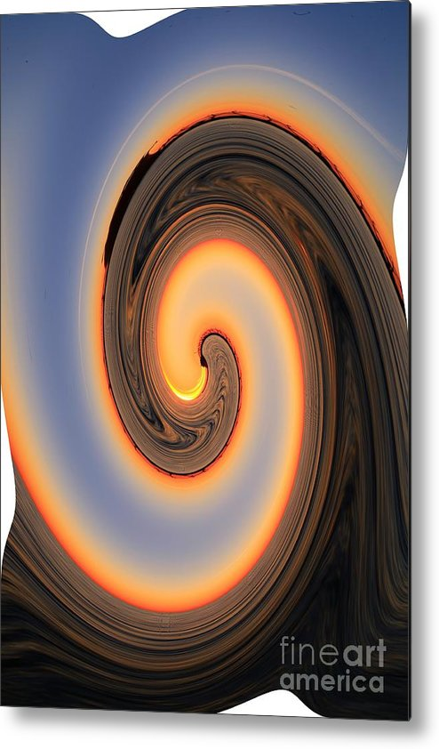 Digital Art Metal Print featuring the photograph Sunset Twist by Robert Pearson