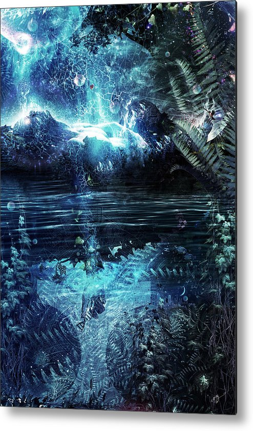 Cameron Gray Metal Print featuring the digital art Syndrome by Cameron Gray