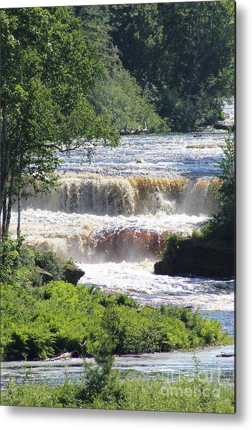 Tahquamenon Falls Metal Print featuring the photograph Tahquamenon Falls by Lisa Smith