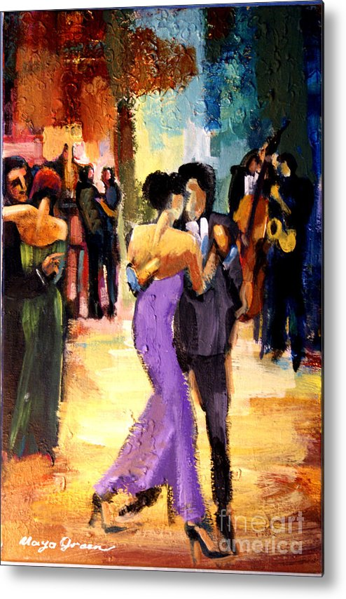 Artwork Metal Print featuring the painting Tango by Maya Green