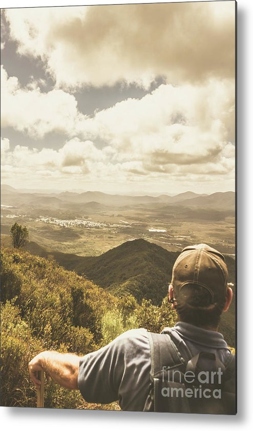 Travel Metal Print featuring the photograph Tasmanian Hiking View by Jorgo Photography - Wall Art Gallery