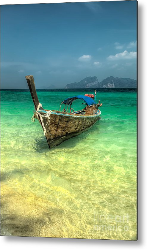 Boat Metal Print featuring the photograph Thai Longboat by Adrian Evans
