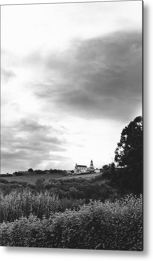 Azores Metal Print featuring the photograph The Church At Salga Azores Portugal by Henry Krauzyk