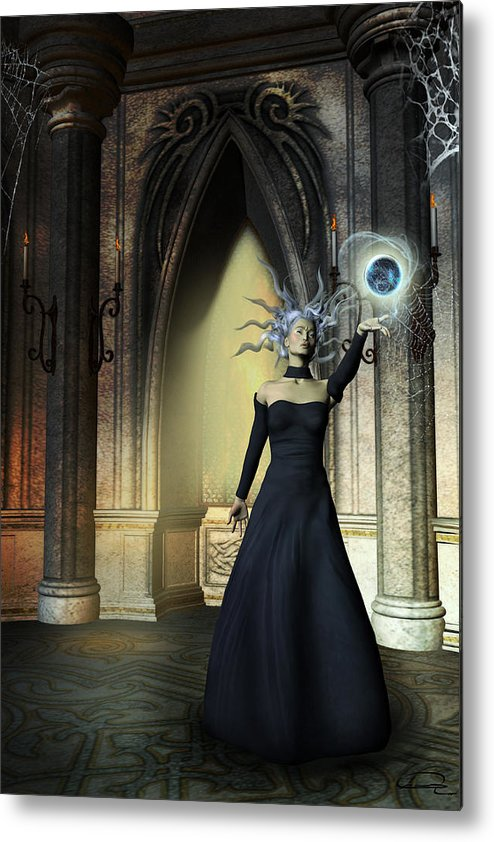 Sorceress Metal Print featuring the painting The Curse Of The Sorceress by Emma Alvarez