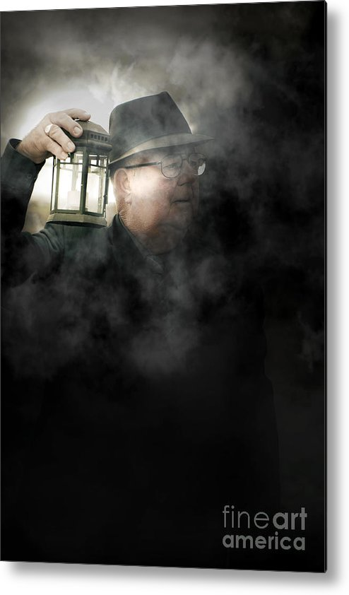 Person Metal Print featuring the photograph The Dead Of Night by Jorgo Photography - Wall Art Gallery