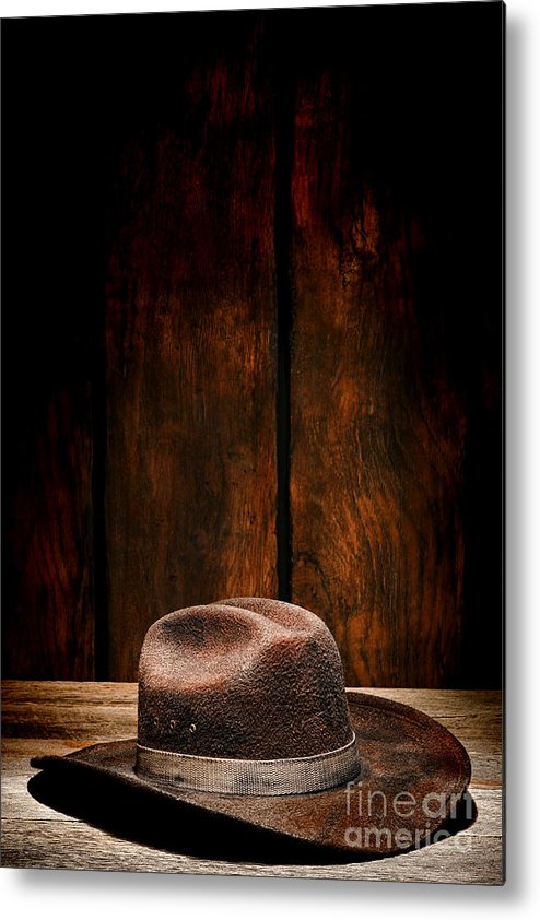 Cowboy Hat Metal Print featuring the photograph The Dirty Brown Hat by Olivier Le Queinec