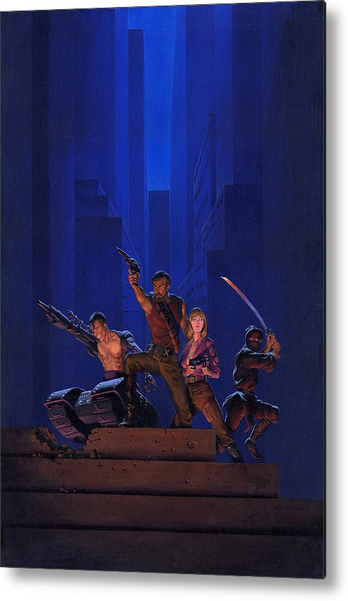 Space Metal Print featuring the painting The Eliminators by Richard Hescox
