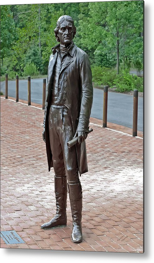 Thomas Jefferson Metal Print featuring the photograph The Man Behind Monticello by DigiArt Diaries by Vicky B Fuller