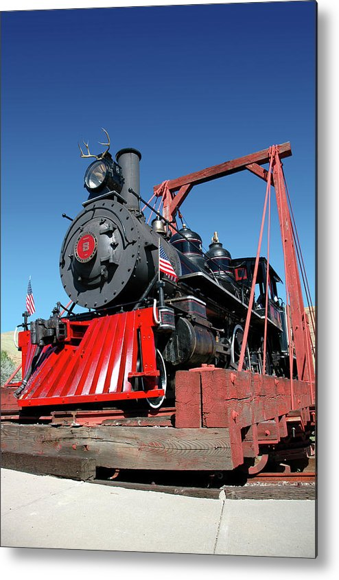 Locomotive Metal Print featuring the photograph The Number 8 by Terrance Emerson