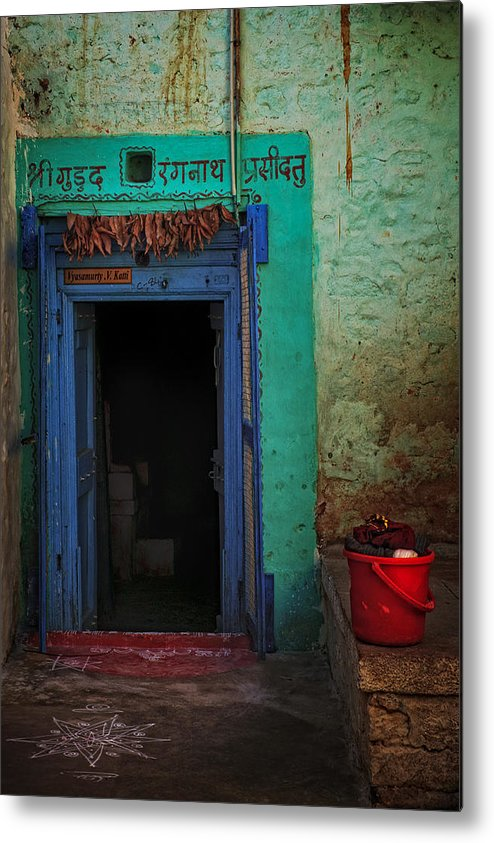 Metal Print featuring the photograph The Red Bucket by Vikram Franklin
