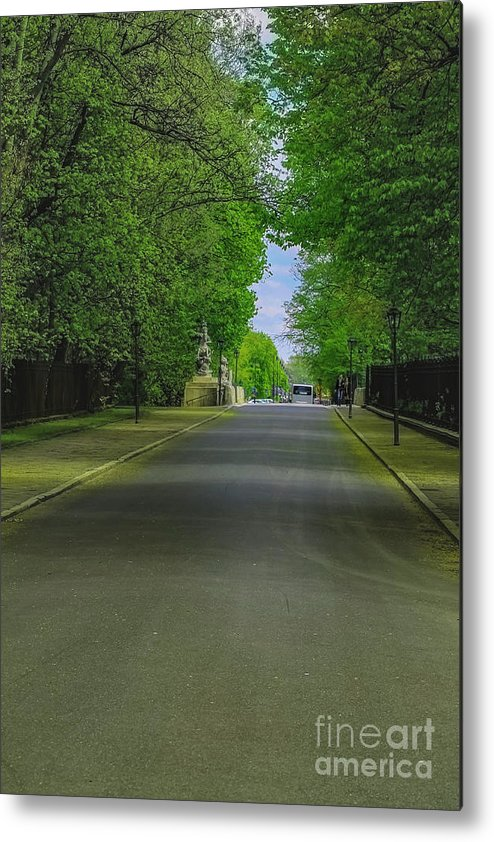 Warsaw Metal Print featuring the photograph The Road On A Border Of Royal Park by Aleksei Musikhin