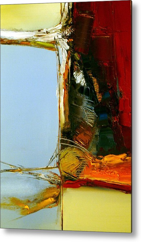 Abstract Metal Print featuring the painting The Space Between Us All by Stefan Fiedorowicz