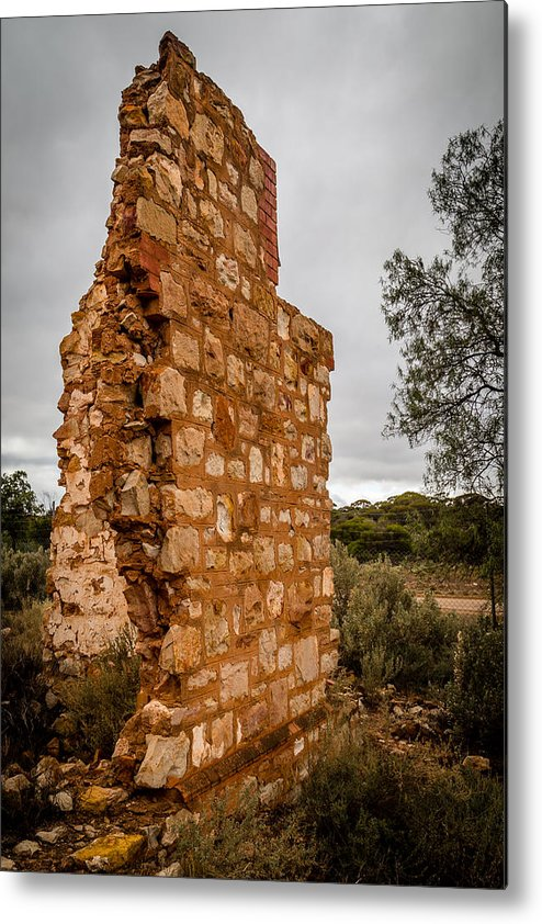 Ruins Metal Print featuring the photograph The Wall by Robert Caddy