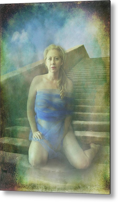 Woman Metal Print featuring the photograph This Is My Heart by Laurie Search