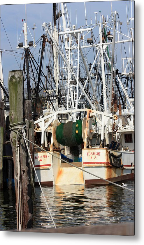 Fishing Boat Metal Print featuring the photograph Tied Up by Mary Haber