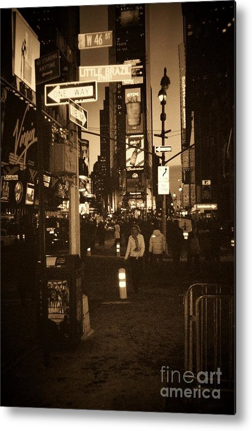 New York Metal Print featuring the photograph Times Square by Debbi Granruth